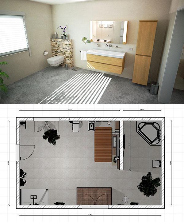 Planung Badezimmer in 3D