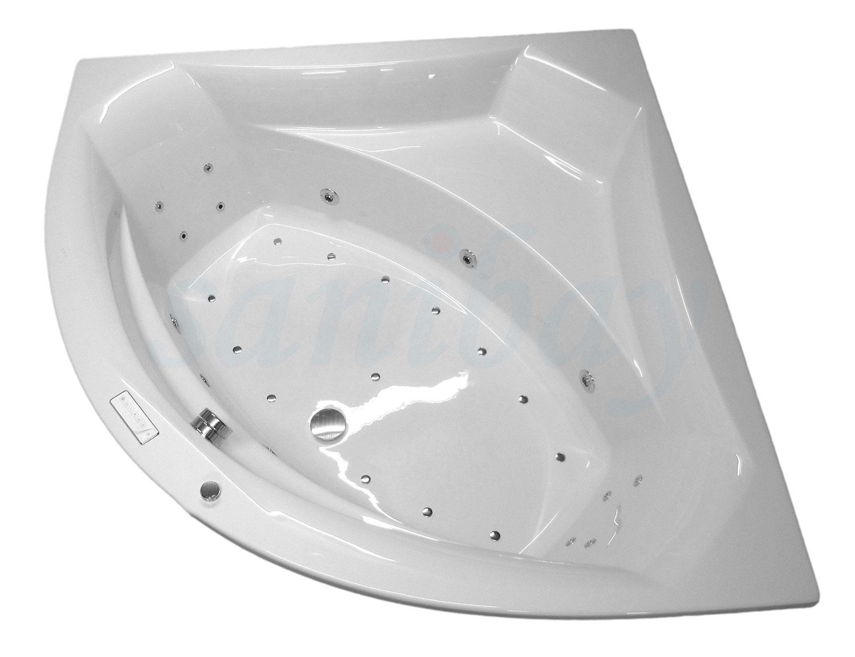 ovaler whirlpool sanibay murnau 190x90cm mit whirlpoolsystem comfort. Black Bedroom Furniture Sets. Home Design Ideas
